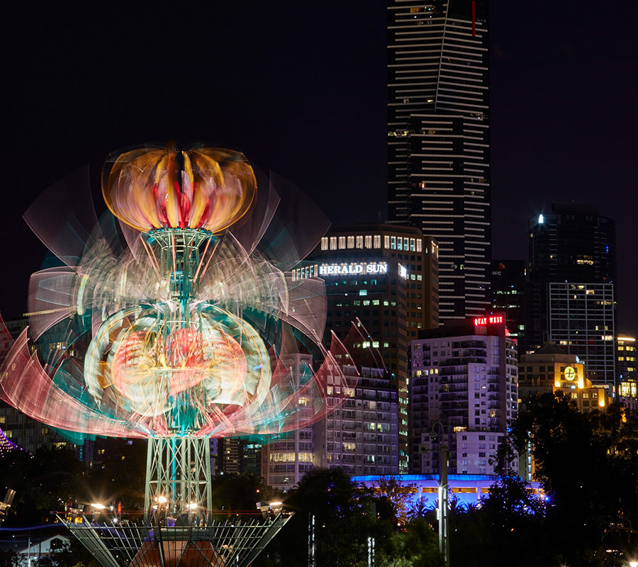 Spherophyte - White Night Melbourne